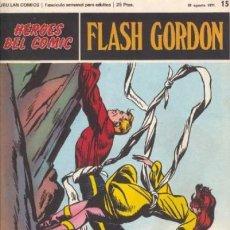 Cómics: FLASH GORDON-BURU LÁN- Nº 15 -FUGA AUDAZ-1972-GRAN ALEX RAYMOND-BUENO-DIFÍCIL-LEA-5126. Lote 275894053