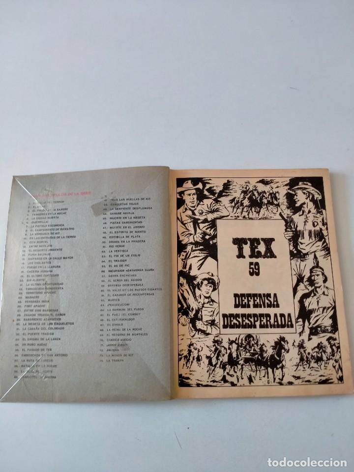 Cómics: Tex número 59 Buru Lan Ediciones Año 1972 - Foto 3 - 277225503