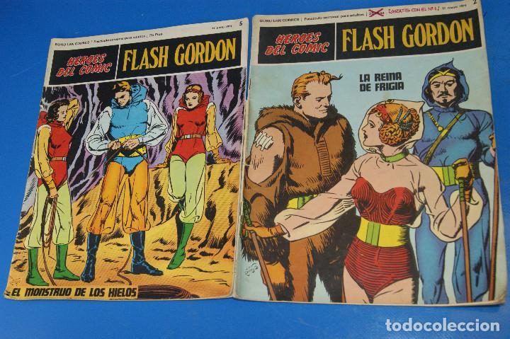 HÉROES DEL COMIC. FLASH GORDON. Nº 2 Y 5. 1971. BURU LAN COMICS. (Tebeos y Comics - Buru-Lan - Flash Gordon)