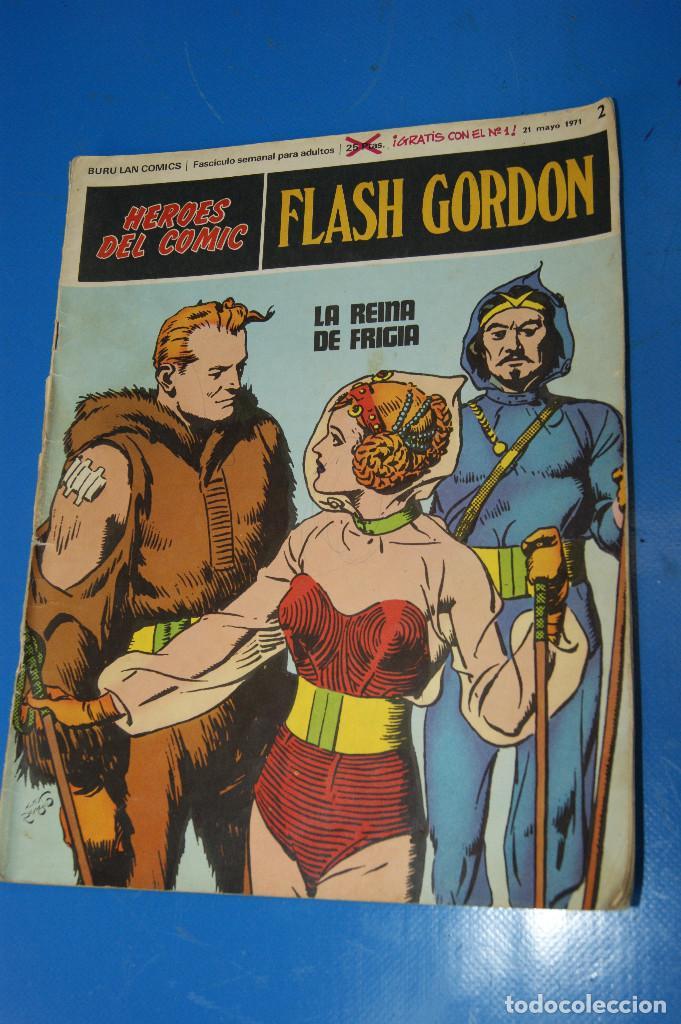 Cómics: Héroes del Comic. Flash Gordon. Nº 2 y 5. 1971. Buru Lan Comics. - Foto 2 - 277680308