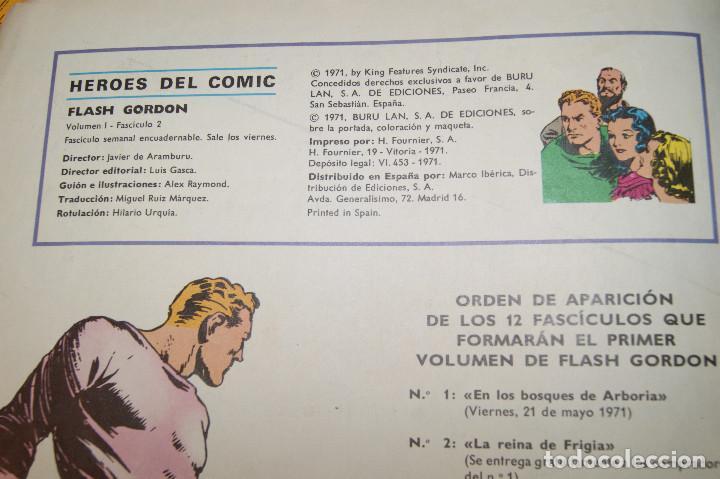 Cómics: Héroes del Comic. Flash Gordon. Nº 2 y 5. 1971. Buru Lan Comics. - Foto 3 - 277680308