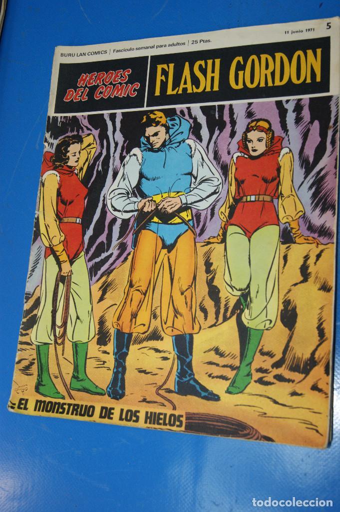 Cómics: Héroes del Comic. Flash Gordon. Nº 2 y 5. 1971. Buru Lan Comics. - Foto 4 - 277680308