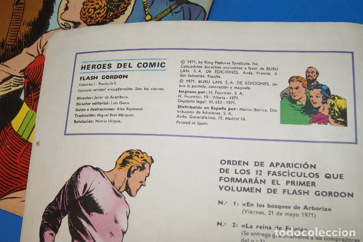 Cómics: Héroes del Comic. Flash Gordon. Nº 2 y 5. 1971. Buru Lan Comics. - Foto 5 - 277680308