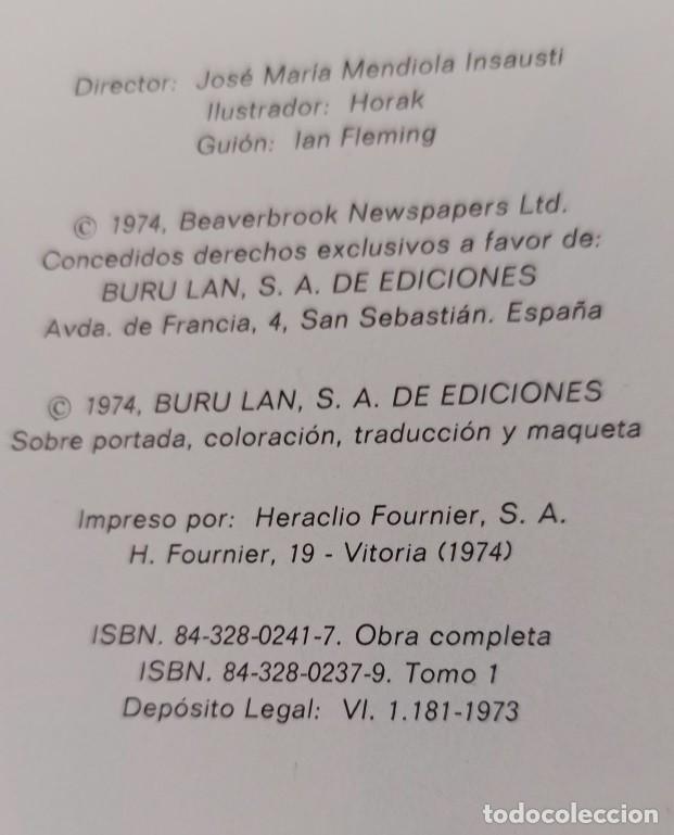 Cómics: JAMES BOND - COLECCIÓN COMPLETA 2 TOMOS ENCUADERNADOS - EXCELENTE ESTADO - BURULAN - - Foto 6 - 283357128