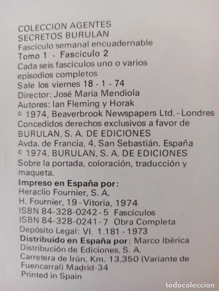 Cómics: JAMES BOND - COLECCIÓN COMPLETA 2 TOMOS ENCUADERNADOS - EXCELENTE ESTADO - BURULAN - - Foto 7 - 283357128