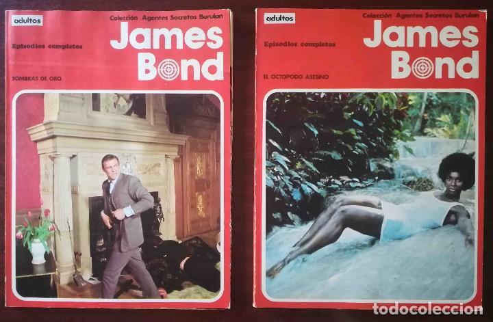 JAMES BOND: EL OCTOPODO ASESINO + ROSTRO DE ACERO + SOMBRAS DE ORO + JUEGO PELIGROSO (Tebeos y Comics - Buru-Lan - James Bond)