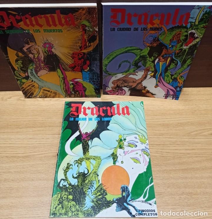 DRACULA BURULAN - ESTEBAN MAROTO - TRES TOMOS COLECCIÓN COMPLETA (Tebeos y Comics - Buru-Lan - Drácula)