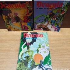 Cómics: DRACULA BURULAN - ESTEBAN MAROTO - TRES TOMOS COLECCIÓN COMPLETA. Lote 283935538