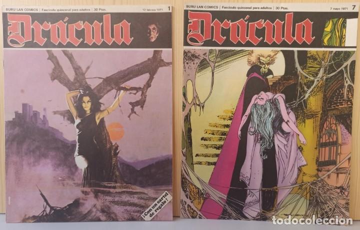 DRÁCULA WOLFF AÑO 1970 NUMEROS 1 Y 7 - EDICIONES BURU-LAN (Tebeos y Comics - Buru-Lan - Drácula)