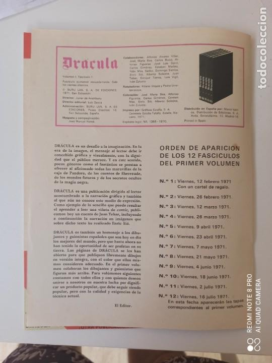 Cómics: DRÁCULA WOLFF AÑO 1970 NUMEROS 1 Y 7 - EDICIONES BURU-LAN - Foto 4 - 283940143