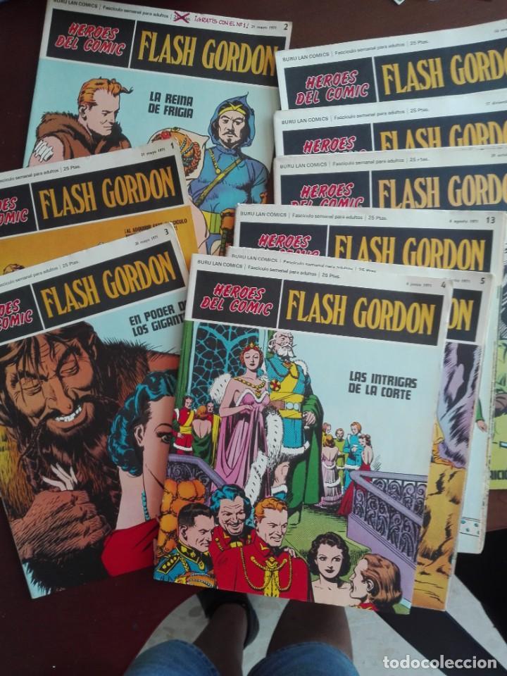 JMFC - 36 PORTADAS DE LOS COMICS DE FLASH GORDON - BURU LAN COMICS- 1971 (Tebeos y Comics - Buru-Lan - Flash Gordon)