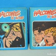 Cómics: HALCONES DE ACERO. 2 TOMOS COMPLETA - BURU LAN 1974 .-JOHN DIXON. Lote 286167478