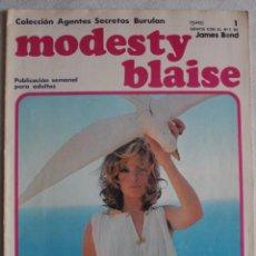 Cómics: MODESTY BLAISE / Nº 1 / COLECCIÓN AGENTES SECRETOS BURULAN - REF.152. Lote 286468763