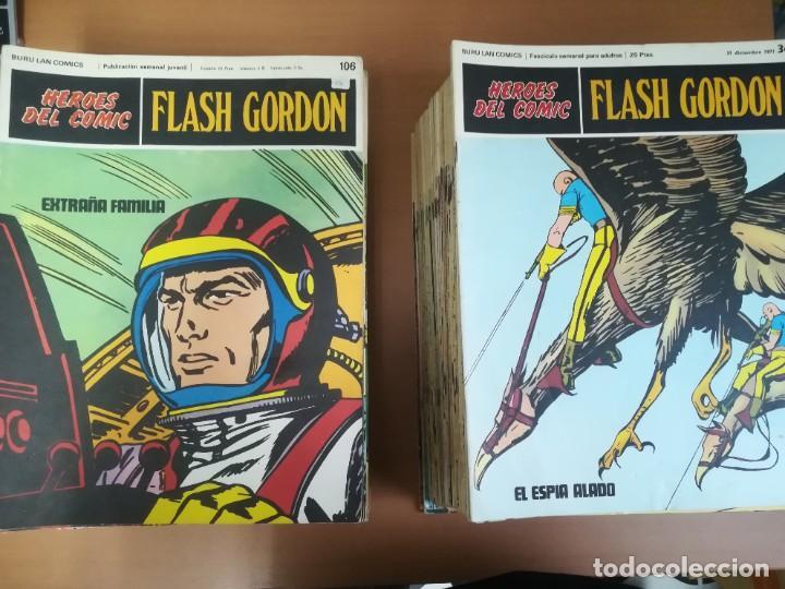 FLASH GORDON. BURULAN. GRAN LOTE DE 104 FASCÍCULOS. (Tebeos y Comics - Buru-Lan - Flash Gordon)