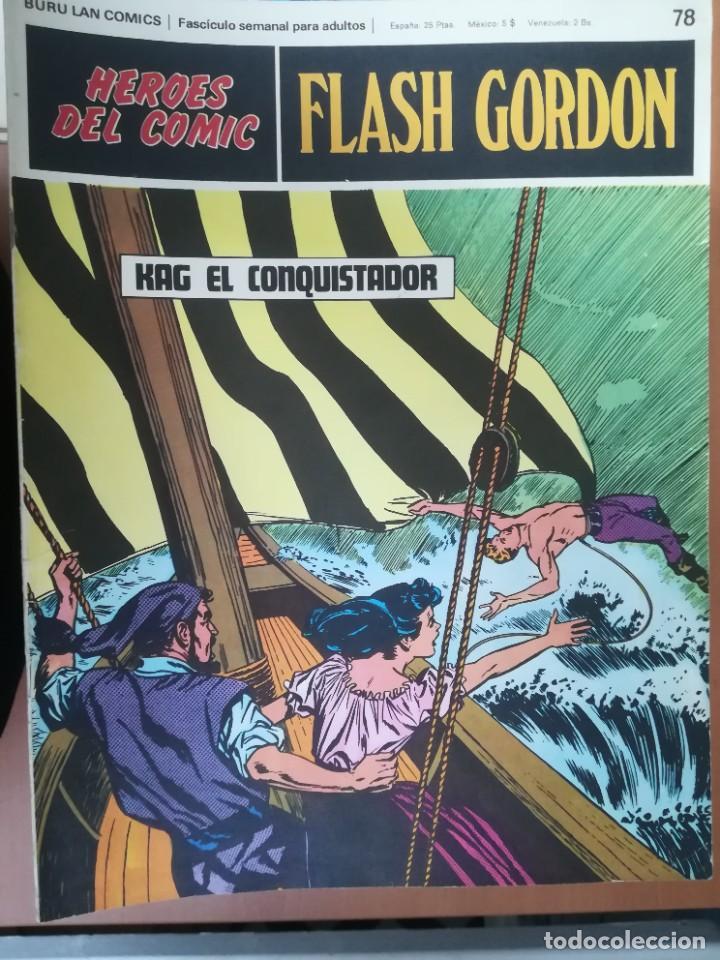 Cómics: FLASH GORDON. BURULAN. GRAN LOTE DE 104 FASCÍCULOS. - Foto 20 - 287605043