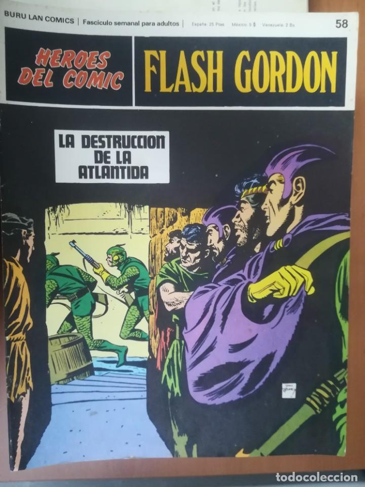 Cómics: FLASH GORDON. BURULAN. GRAN LOTE DE 104 FASCÍCULOS. - Foto 35 - 287605043