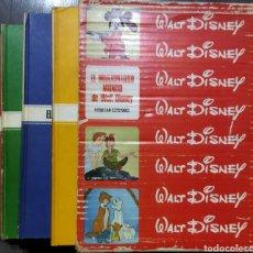 Cómics: LOTE DE 4 LIBROS DE EL MARAVILLOSO MUNDO DE DISNEY EN SU ESTUCHE ORIGINAL EDITADO EN 1971. Lote 289013498