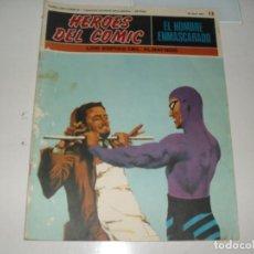 Cómics: EL HOMBRE ENMASCARADO 13.(DE 96).EDICIONES BURU LAN,AÑO 1971.PORTADA DE ENRICH.. Lote 289388378