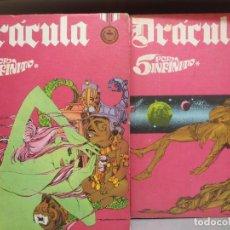 Cómics: DRACULA - 5 POR INFINITO COMPLETO - 2 TOMOS - BURU LAND - ESTEBAN MAROTO - 1972. Lote 289647173