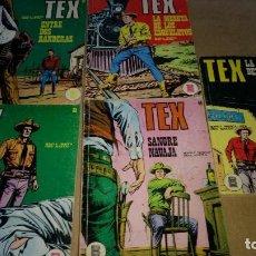 Cómics: TEX LOTE 5 NUMEROS. 27-30-31-32-44 BURULAN DE 25 PTAS ORIGINALES AÑOS 70. Lote 290059618