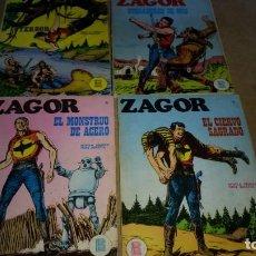 Cómics: ZAGOR LOTE 4 NUMEROS. 2-10-16-17 BURULAN DE 25 PTAS ORIGINALES AÑOS 70-NUMEROS DIFICILES. Lote 290060413