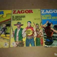 Cómics: ZAGOR LOTE 3 NUMEROS. 21-22-25 BURULAN DE 25 PTAS ORIGINALES AÑOS 70-NUMEROS DIFICILES. Lote 290060593