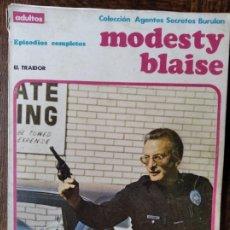 Cómics: MODESTY BLAISE: EL TRAIDOR - ALBUM RUSTICA COMIC BURULAN -. Lote 290065663