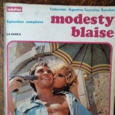 Cómics: MODESTY BLAISE: LA BARRA - ALBUM RUSTICA COMIC BURULAN -. Lote 290065703