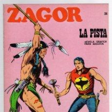 Comics: ZAGOR TERROR. Nº 34. LA PISTA. COLECCION ZAGOR. BURU LAN 1971. Lote 291999148