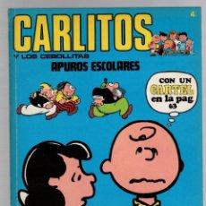 Cómics: CARLITOS Y LOS CEBOLLITAS. Nº 4. APUROS ESCOLARES. SNOOPY. BURU LAN 1971. CONTIENE EL CARTEL. Lote 292568743