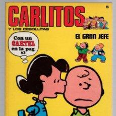 Cómics: CARLITOS Y LOS CEBOLLITAS. Nº 5. EL GRAN JEFE. SNOOPY. BURU LAN 1971. CONTIENE EL CARTEL. Lote 292568968