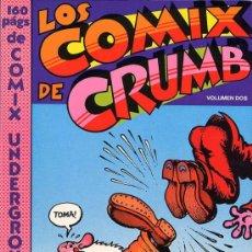 Cómics: LOS COMIX DE CRUMB VOLUMEN 2 - PASTANAGA - 1978 - TAPAS CARTÓN BLANDO - 160 PÁGINAS BLANCO Y NEGRO . Lote 22765071