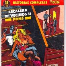 Cómics: ESCALERA DE VECINOS II. PONS. HISTORIAS COMPLETAS EL VIBORA Nº 15. Lote 27291617