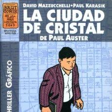 Cómics: LA CIUDAD DE CRISTAL - PAUL AUSTER - Nº 1 DE 3 - BRUT COMIX - LA CUPULA. Lote 19858993