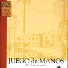 Cómics: JUEGO DE MANOS - JASON LUTES - Nº 1 DE 3 - BRUT COMIX - LA CUPULA. Lote 19859249