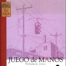 Cómics: JUEGO DE MANOS - JASON LUTES - Nº 3 DE 3 - BRUT COMIX - LA CUPULA. Lote 19859268