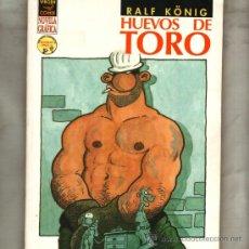 Cómics: HUEVOS DE TORO RALF KONIG NOVELA GRAFICA COMIX VIVORA EDICIONES LA CUPULA COMIC ALEMAN . Lote 144599329