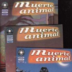 Cómics: MUERTE ANIMAL /POR: QUIM BOU - SERIE COMPLETA EN 3 EJEMPLARES - EDITA : LA CUPULA. Lote 22725033