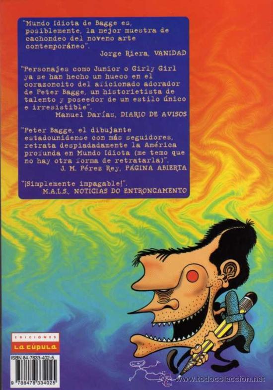 Cómics: PETER BAGGES - MUNDO IDIOTA Nº 9 - BRUT COMIX - ED. LA CÚPULA - Foto 2 - 27684720