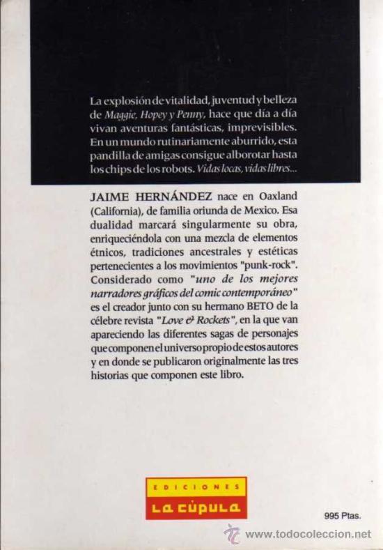 Cómics: JAIME HERNÁNDEZ - LAS MUJERES PERDIDAS - VIBORA COMIX - ED. LA CÚPULA - Foto 2 - 27684696