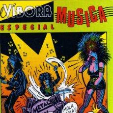 Cómics: EL VÍBORA - ESPECIAL MÚSICA - EDICIONES LA CÚPULA. Lote 28251327
