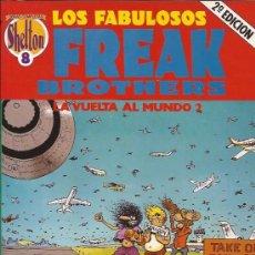Cómics: COMIC-FREAK BROTHERS-LA VUELTA AL MUNDO 2-GILBERT SHELDON-LA CUPULA. Lote 30288428