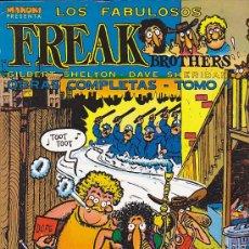 Cómics: COMIC RUSTICA COLECCION MAKOKI LOS FABULOSOS FREAK BROTHERS OBRAS COMPLETAS TOMO I. Lote 32421638