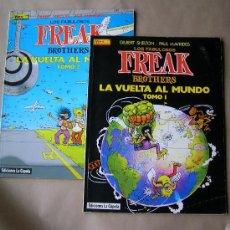 Cómics: FREAK BROTHERS - LA VUELTA AL MUNDO 1 2 – SHELTON - LA CÚPULA, AÑO 1987. Lote 34468416