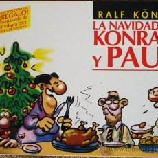 Cómics: PROMOCION KONIG: LA NAVIDAD DE KONRAD Y PAUL, ESPECIAL DEL VÍBORA, CUADERNILLO APAISADO. RARO. Lote 34480274