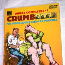 Cómics: MIS PROBLEMAS CON LAS MUJERES (CRUMB) TOMO Nº 1 ( OBRAS COMPLETAS ). Lote 39540142