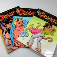 Cómics: LOTE DE 3 COMICS * OMAHA LA GATA BAILARINA NUMEROS 1 * 2 * 3. Lote 39656991
