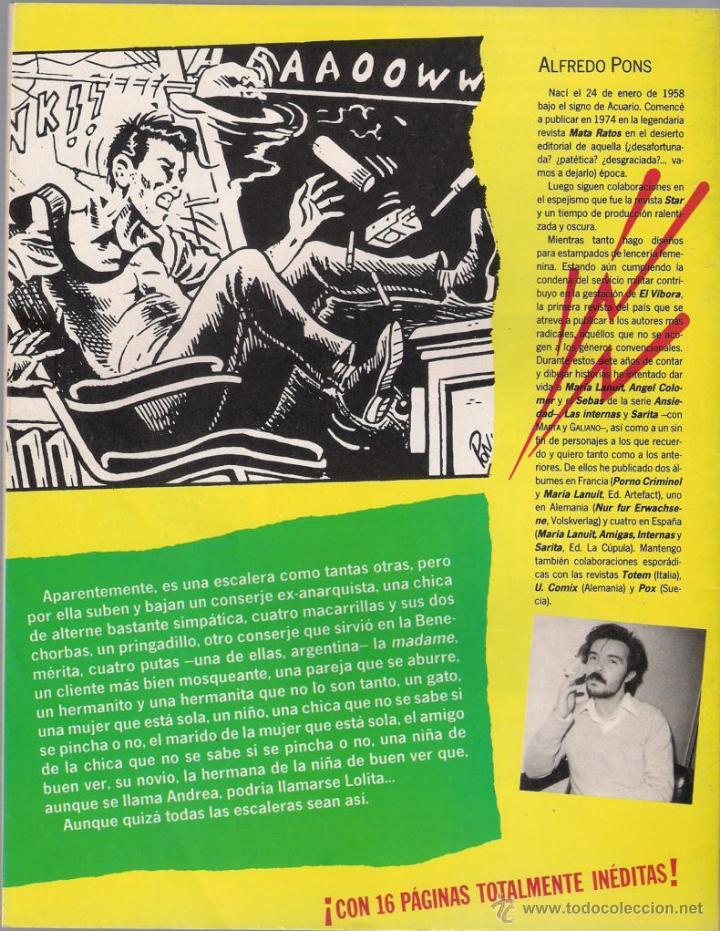 Cómics: Escalera de vecinos. Pons - Historias completas de El Víbora Nº 1. 1987 La cúpula. - Foto 2 - 242425805