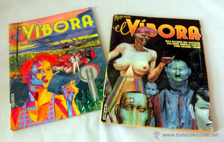 LOTE 2 COMICS * EL VIBORA 80 * 81 (Tebeos y Comics - La Cúpula - El Víbora)