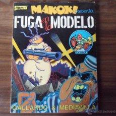 Cómics: MAKOKI PRESENTA : FUGA EN LA MODELO -GALLARDO Y MEDIAVILLA - 3ª EDICION 1985. Lote 40663355